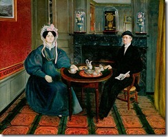 15. Unknown Artist, English - Couple At Tea, 1830