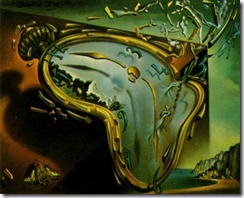 360 Soft Watch at the Moment of First Explosion 1954 Oil Painting by Salvador Dali