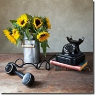 10418725-still-life-illustration-with-sunflowers-and-antique-black-telephone-in-oil-painting-style