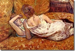Henri-de-Toulouse-Lautrec-Devotion-The-Two-Girlfriends-Oil-Painting